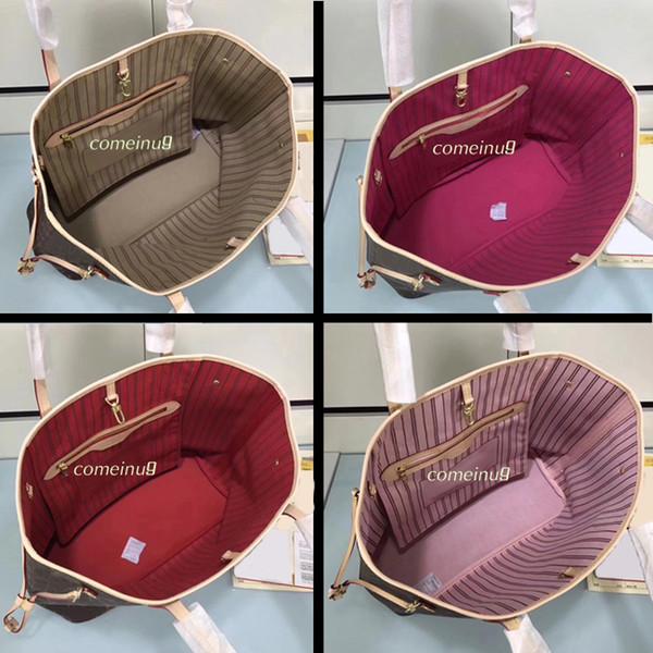 Bolso bandolera para mujer con cartera de embrague 40996 Totalizador de compras de cuero genuino en todos los colores Interior 40995 Buen precio