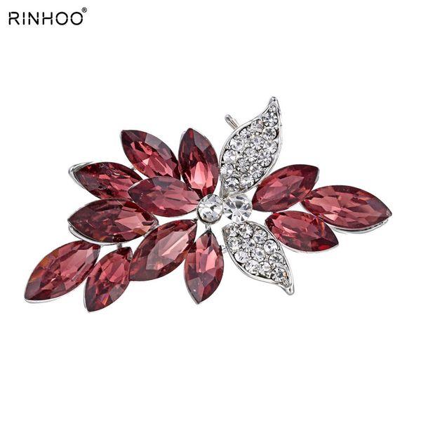 Big Crystal Frauen Broschen Pins Pflanze Brosche Kleidungsstück Schmuck Blumen Frauen Schal Brosche Für Kleid Klassiker Für Geschenk