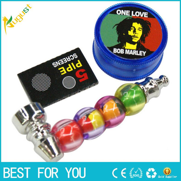 Hot sale New Metal Smoking Herb Water Pipes Smoking Pipe Tobacco Pipes for Smoking Cigarette Filter Holder