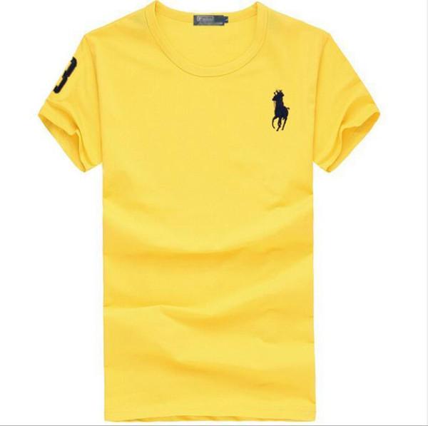 T-shirt Männer Schwarz Sommer T-shirt Männer große Pferd Stickerei Kurzarm Solide Casual Weiß T-shirt Männer 100% Baumwolle T-shirt Tops S-6XL