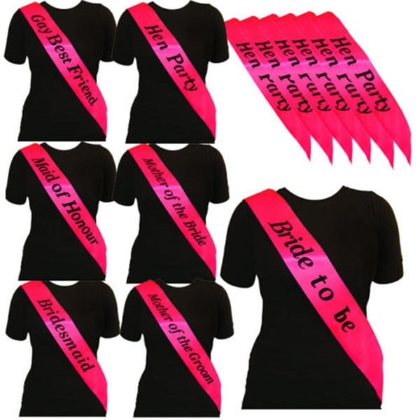 Hen Party  Bride To Be  Deluxe Pink party night out sashes