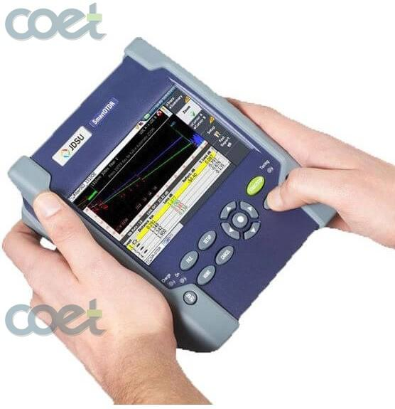FTTx Optical Time Domain Riflettometria Test JDSU MTS-2000 SM OTDR 1310 / 1550nm 33 / 31dB, Touch Screen JDSU T-BERD Fibra Ottica OTDR