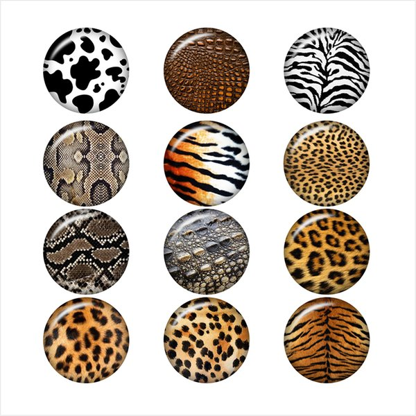 cow leopard tiger snake Pattern glass snap button jewelry photo print Phone Holder DA1029