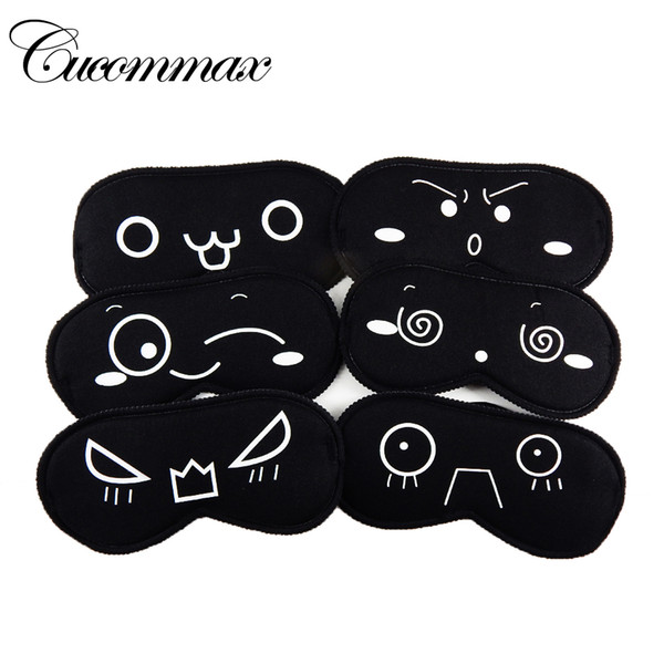 top popular Sleeping Eye Mask Black Eye Shade Sleep Mask Black Mask Bandage on Eyes for Sleeping Emotion Sleep Masks 2019