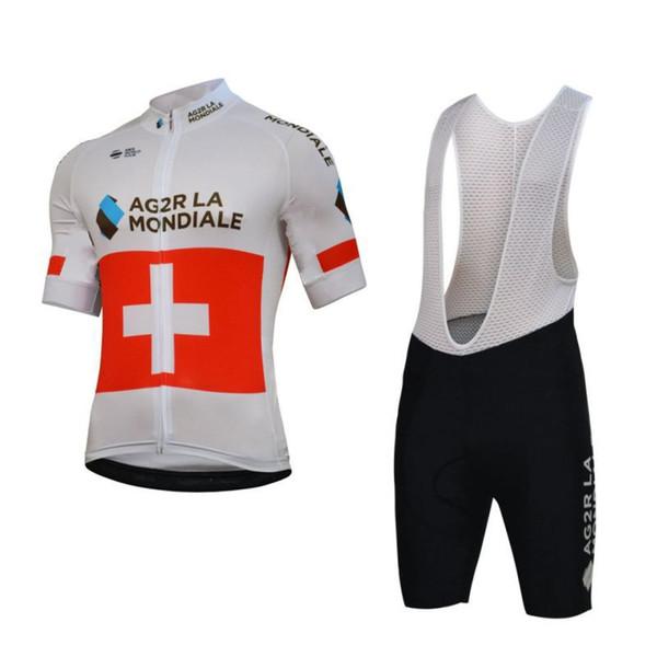 2018 pro team AG2R cycling jerseys Racing bike clothes MTB maillot Ropa Ciclismo Summer Bicycle shirt /bib shorts 3D GEL pad H0601