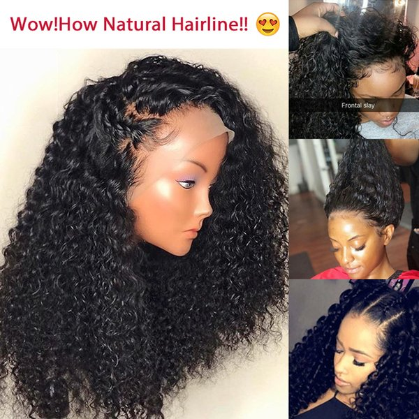 Premier 360 Full Lace Human Hair Wig Brazilian Remy Hair Wigs 12-22 Inches Deep Curly Pre-plucked Deep Lace Part Human Lace Wigs