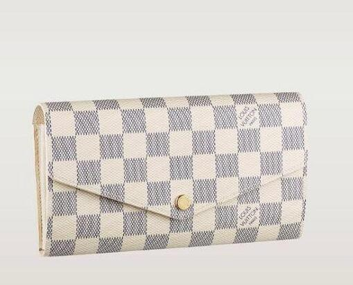 Envelope wallet N63208 checkered fabric ladies SARAH wallet OXIDIZED LEATHER CLUTCHES EVENING LONG CHAIN WALLETS COMPACT PURSE
