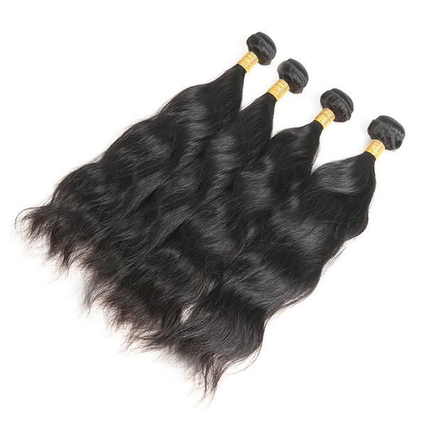 Brazilian Natural Wave Virgin Hair 4 Bundles Unprocessed Brazilian Hair Natural Wave 100% Human Hair Weave Natural Black Free Shipping