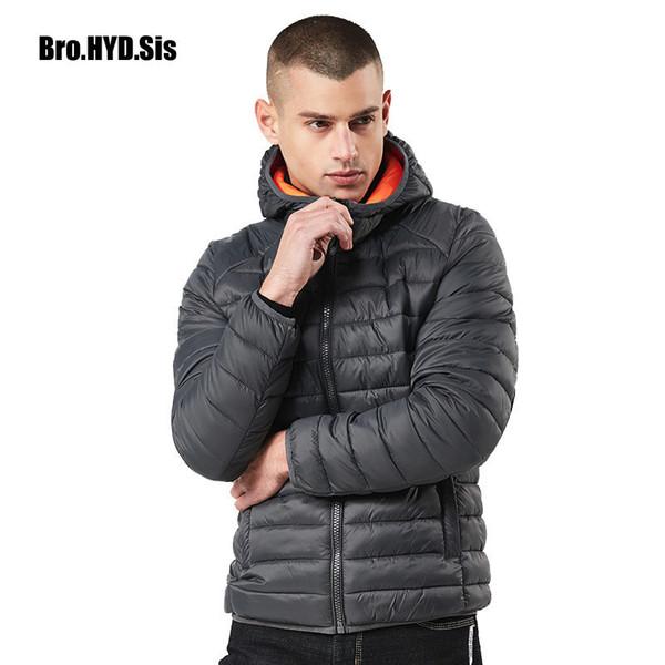Winter Jacket Hooded Warm Parka Coat Men Zipper Anorak Coat with Hood Windbreaker Cotton Jacket Outercoat Male Clothing
