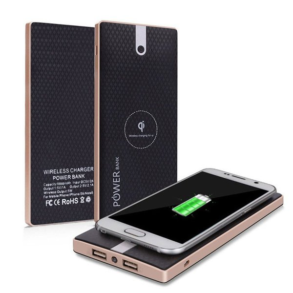New Wireless 10000mAh Qi Charger power bank Fast Charging Adapter For Samsung S8 NoteS8 For iPhone 8 iphone X with Retail Box