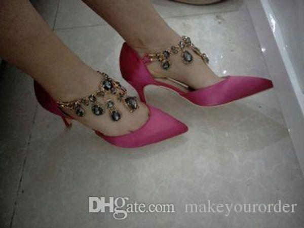 wholesale free shipping factory price sexy platform pointed toe high heel diamond women dress bride wedding shoe 178