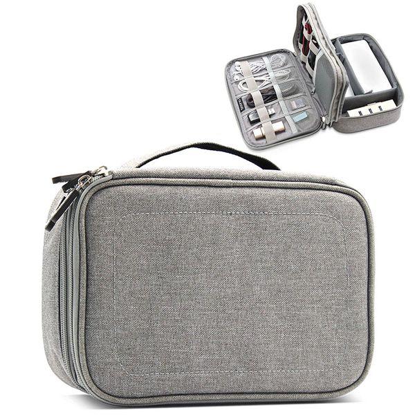 Двухслойная сумка для хранения дорожного комплекта Кабель для передачи данных U Диск Power Bank Электронные аксессуары Цифровые гаджеты Устройства Чехол-органайзер