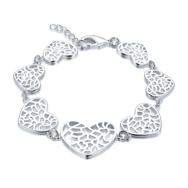 Free shippin!Fashion trend hand chain sterling silver plated bracelet SPB589;high quatity fashion men and women 925 silver Charm Bracelets