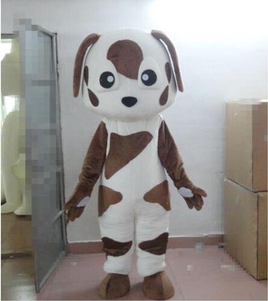 New Adult Cute BRAND Cartoon Cute Brown Dot Dog Mascot Costume Fancy Dress Hot Sale Party costume Free Ship
