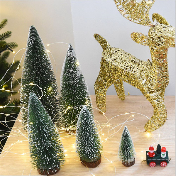 Christmas Tree A Small Pine Tree Placed In The Desktop Mini Christmas Decoration For Home Xmas free shipping 2018 new hot sale wholesale oem