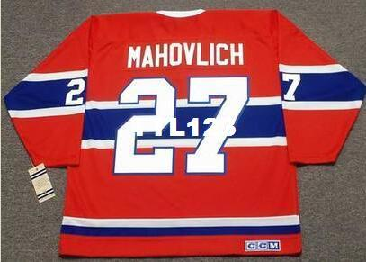 pretty nice 2edb4 1297d Mens #27 FRANK MAHOVLICH Montreal Canadiens 1973 CCM Vintage Away Home  Hockey Jersey or custom any name or number retro Jersey