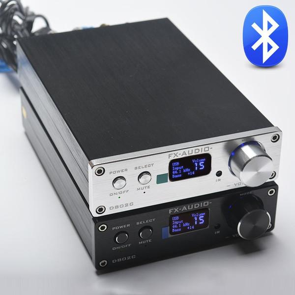Freeshipping FX-Audio D802C Wireless Bluetooth Version Input USB/AUX/Optical/Coaxial Pure Digital Audio Amplifier 24Bit/192KHz 80W+80W OLED