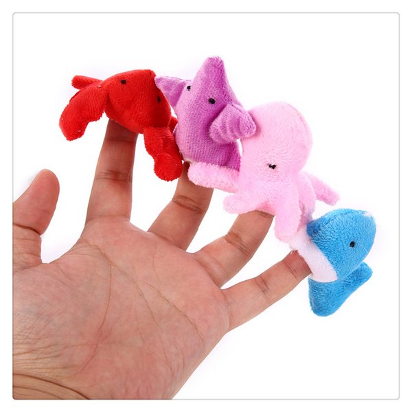 10Piece Soft Assorted Sea Animal Finger Puppets for Children Story Time Learning Education Toys Gifts For Kids Hot Sale
