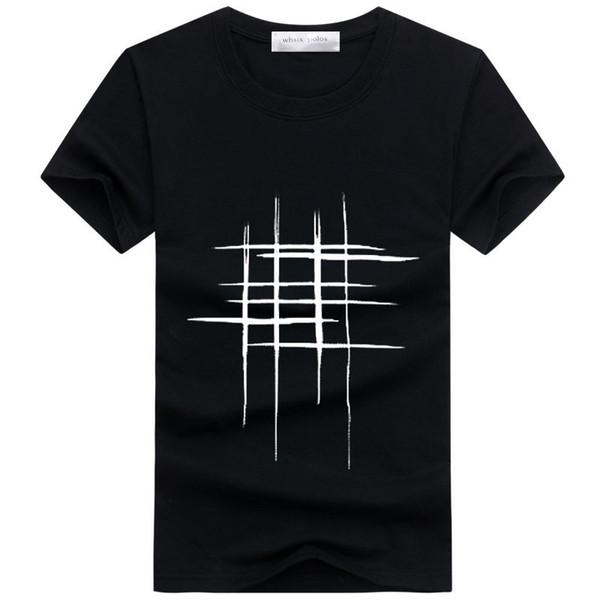2018 t-shirt men Simple creative design line cross Print cotton T Shirts Men's New Arrival Summer Style Short Sleeve Men t-shirt