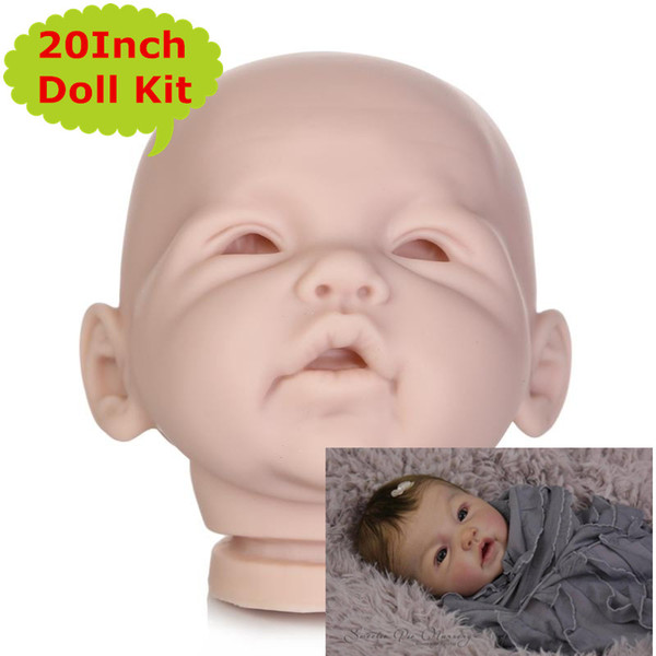 NPK New Arrival 20Inch 3/4 Arms and Full Legs Silicone Vinyl Reborn Doll Kit Good Quality Doll Accessories Baby DIY Reborn Toys