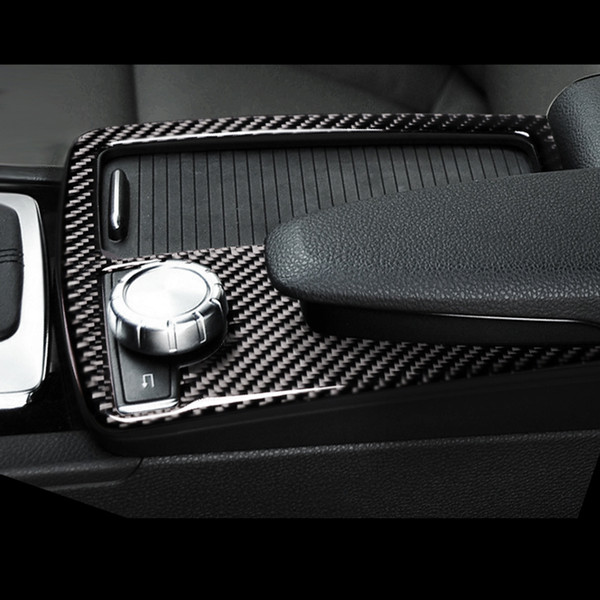 2019 For Mercedes Benz C E Class W204 W212 Coupe Carbon Fiber Car Gearshift  Panel Frame Water Cup Holder Cover Trim Strip Sticker Accessories From