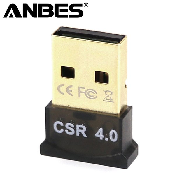 Anbes USB Bluetooth Adaptador V4.0 CSR Dual modo inalámbrico Mini Bluetooth Dongle 4.0 Transmisor para Windows 10 8 7 Coche