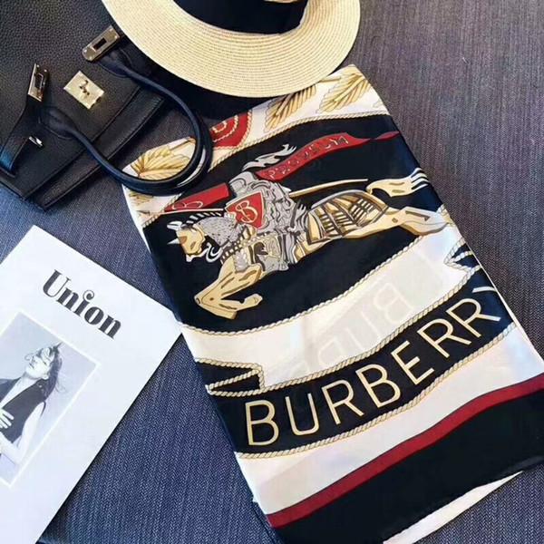 Date Luxe Écharpes Châles Marque Célèbre Designer Lettre Modèle Womens cadeau foulards Haute Qualtiy 100% soie longue Wraps Taille180x90cm RT777