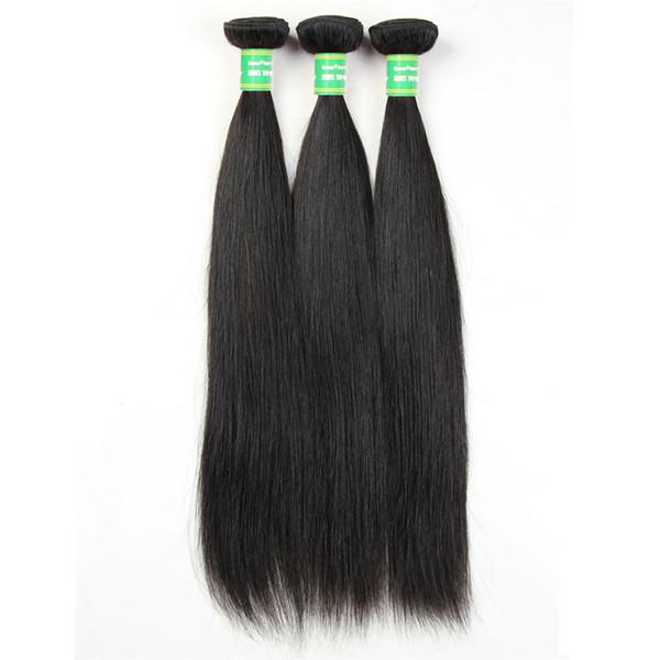 Brazilian Remy Silky Straight Hair Extension Human Hair Bundles 8-28 Inch Natural Color Brazilian Straight Hair