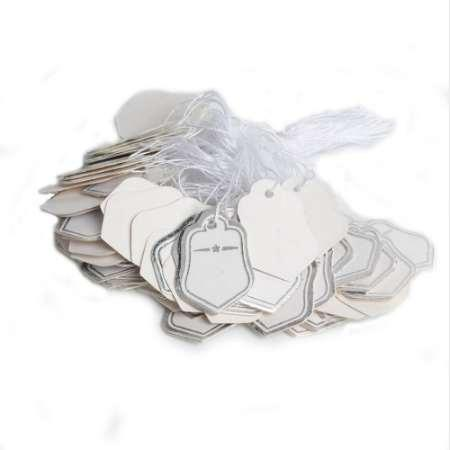 New 500pcs Silver Color Star paper Tags Price Labels Pricing Tags With Strings Wedding Note DIY Blank price Gift Hang tag