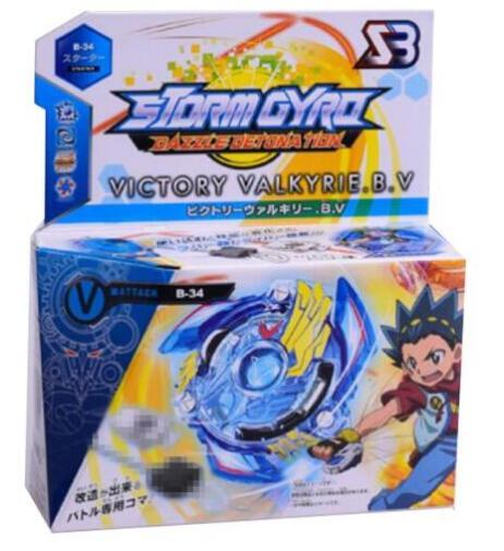 best selling 8 Stlyes New Spinning Top Bayblade BURST B-34 With Launcher And Original Box Metal Plastic Fusion 4D Gift Toys For Children