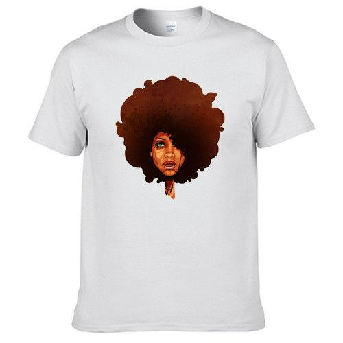 Erykah Buda Abi Wright Afro Capelli Dj Music T Shirt 202023 Cool Casual Pride T Shirt Uomo Unisex New Fashion Tshirt Size allentato