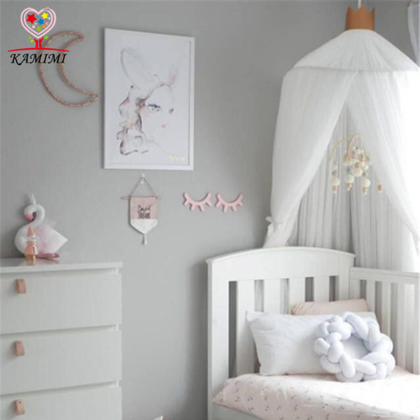 2017 summer new Baby bed curtain kids Mosquito Net children Cotton Crib Netting baby bedroom decoration photography props