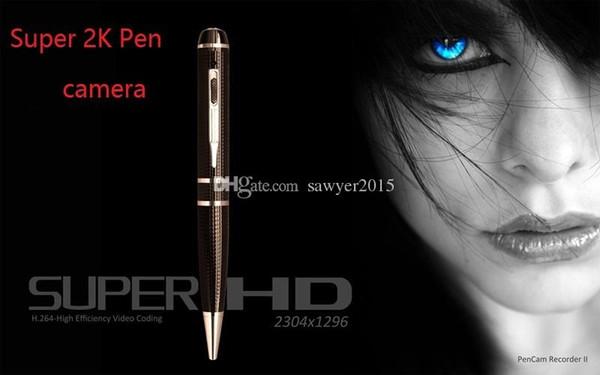 Süper HD 1296 P H.264 Mini Kalem video kamera 16 GB 32 GB 2 K Hareket Algılama HDMI Port Bellek Tükenmez Kalem iğne deliği Kamera DVR