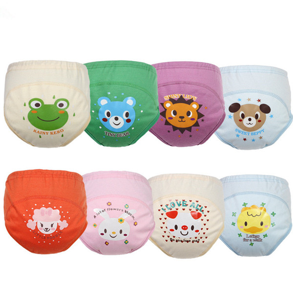 1 Piece Washable Baby Potty Training Pants Pee Learning Nappies for Boy Girl Underwears Briefs Infant Cloth Diapers