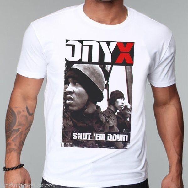 Rap, Onyx T-shirt, Slam, nieuwe, Bacdafucup, Mobb Diepe, Wutang Clan, Tanker Toper, Hood Man Print T-shirt Hipster Top Tee