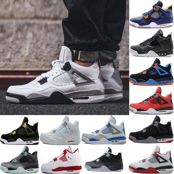 2017 4 Pure Money Basketball Shoes Mens 4s BRED Royalty White Cement Motorsport Outdoor Sports Sneakers us8-13
