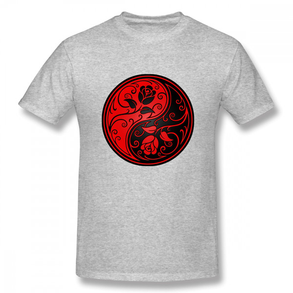 Anime Vermelho E Preto Yin Yang Rosas T Shirt Unisex Mais Recente Único Para O Homem Presente Do Dia Dos Namorados
