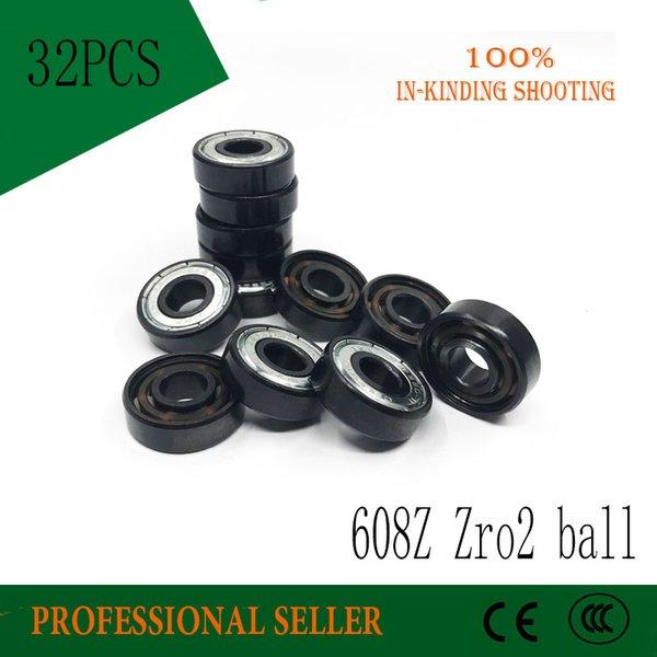 top popular Free shipping 32pcs Ceramic Swiss BSB 608 ZrO2 Ball 8*22*7mm ABEC11 Hybrid 6 White balls Skateboard Bearing Skating hand Spinner 2021