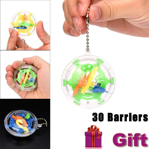 Asteria Mini Ball Maze Intellect Puzzle Toy Balance Barrier Magic Labyrinth Spherical