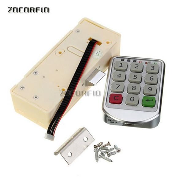 top popular Dry battery Electronic password cupboard door lock   combination lock drawer locker 2021