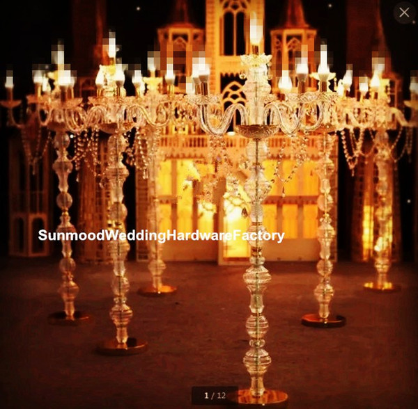 no light and candle inluding)crystal clear candle holder, wholesale hanging acrylic crystal bead candle holder