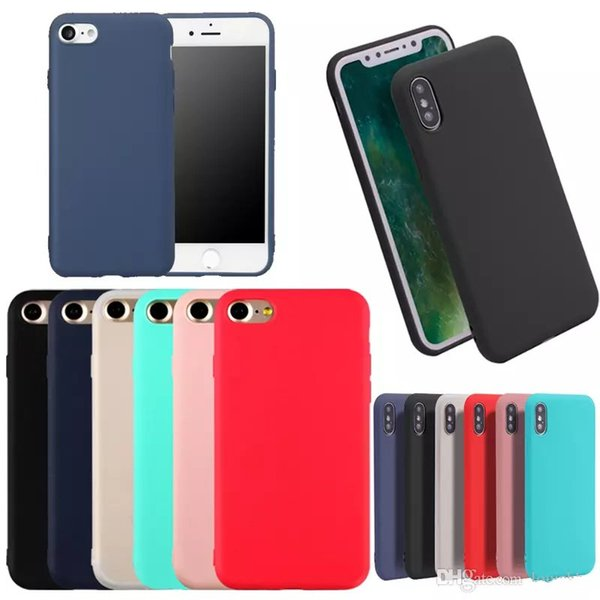 Ultra Thin Shockproof Bumper Case for iPhone xs max xr x 8 6 6s 7 plus Colorful Soft Matte TPU Silicone back cover for iPhone 5 5s SE
