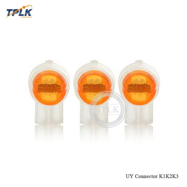 200pcs/lot UY2 K2 Connector K2/Y2 fast connector Grease Filling Butt Wire Line Terminal For Telephone Network Line Connection