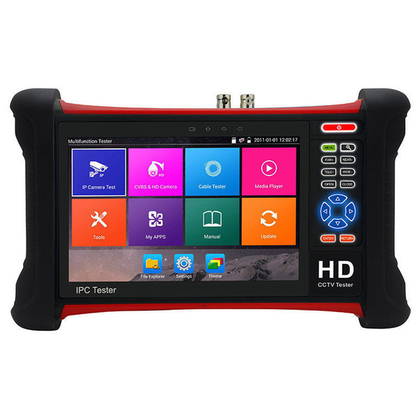 7 Inch Full Functional H.265 4K HD CCTV Tester Monitor IP CVBS AHD CVI TVI 8MP 5MP ONVIF Multimeter TDR WIFI HDMI Input POE 12V X7-MOVTADHS