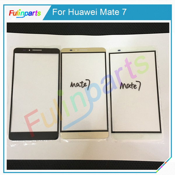 For Huawei Mate 7 Mate 8 9 Front Screen Outer Glass Touch Outer Cover Panel Lens Replacement Black/White/Gold + Tools