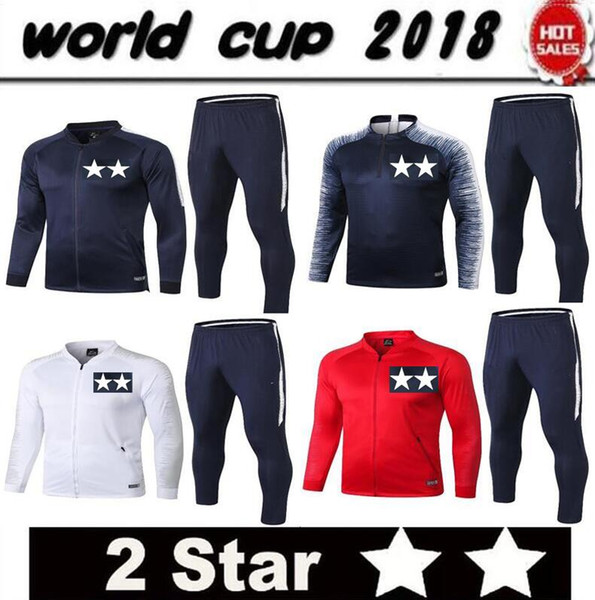 Thai 2018 Maillot de foot French soccer Tracksuit POGBA MATUIDI Track suits jacket 18 19 GRIEZMANN chandal training suits sports wear