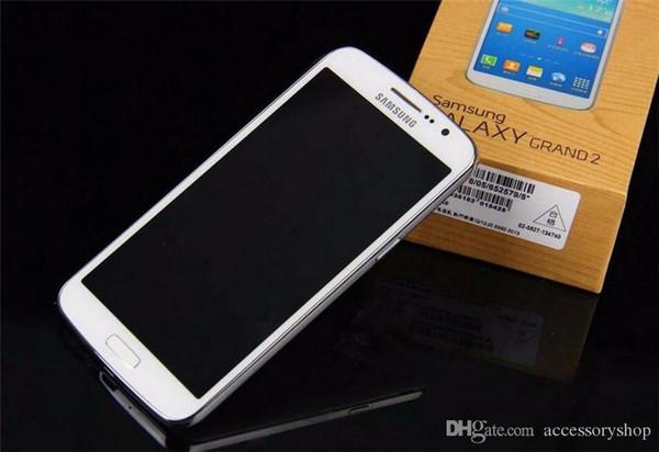 Refurbished Original Samsung Galaxy Grand 2 G7102 Smartphone 5.25 inch Quad Core 1.5GB RAM 8GB ROM 8MP 3G WCDMA Unlocked Phone