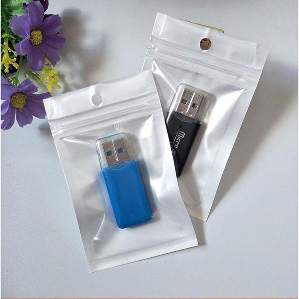 6*10cm Small White Clear Self Seal Zipper Plastic Retail Packaging Bag, Ziplock Zip Lock Bag Retail Package Pack With Hang Hole
