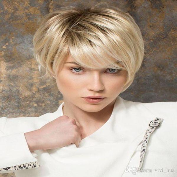 Großhandel Xt950 Geneigte Bang Perücke Blonde Perücke Kurze Haare 100 Wärme Synthic Fiber Twenty Vielzahl Von Farben Können Tun Von Viawigs 1148