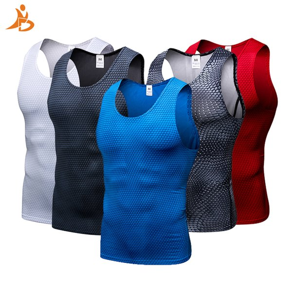 2018 YD New Compression Tights Gym Tank Top Quick Dry Sleeveless Sport Shirt Men Gym Clothing For Summer Cool Men's Running Vest